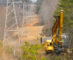 Transmission right-of-way clearance for utilities customers